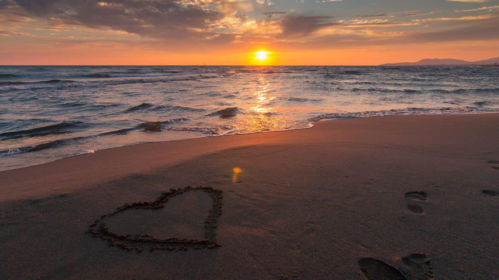 Heart in the sand at beach- Serendipity Anna Maria